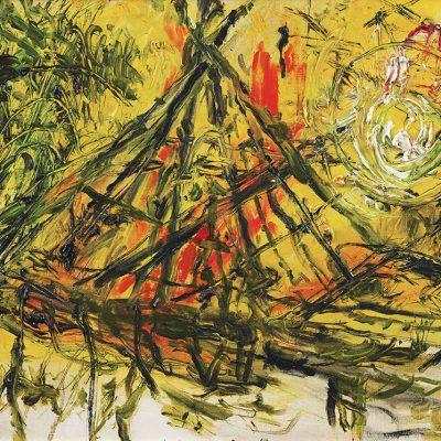 AFFANDI, <em>BAMBOO BRIDGE</em>, 1989, Oil on canvas, 60cm x 80cm, estimate RM110,000 – 160,000