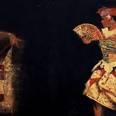 AHMAD ZAKII ANWAR, <em>KEBYAR,</em> 1997, Acrylic on canvas ,120cm x 180cm; diptych, 120cm x 90cm each, estimate RM80,000 – 120,000