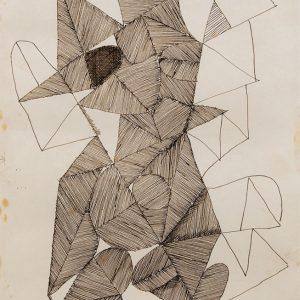 <em>Abstraksi Jago,</em> 1994, Pen on paper, 28.5cm x  21cm