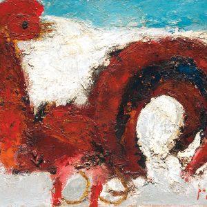 <em>Ayam,</em> 1990, Oil on canvas, 38cm x 46cm