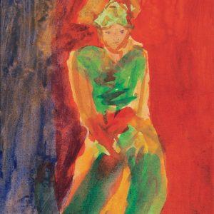 <em>Gadis Penari</em> 1992, Watercolour on paper, 28.5cm x 21.5cm