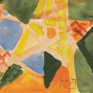 <em>Pemandangan Pegunungan,</em> 1997, Watercolour on paper, 12.5cm x 21.5cm