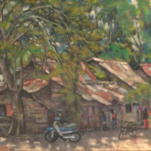 Fung Yow Chork, <em>Village Scene</em>, 1993, Oil on canvas, 40cm x 50cm. Price on request