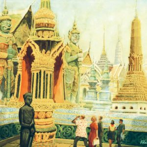 Khaw Sia, <em>Temple</em>, 1962, 50cm x 66.5cm, watercolour on paper. Price for request