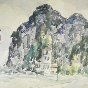 Yong Mun Sen, <em>Untitled</em>, 1952, Watercolour on paper, 37cm x 55cm. Reserved