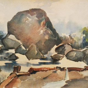 Yong Mun Sen, <em>Untitled</em>, 1952, Watercolour on paper, 49cm x 64cm. Price on request