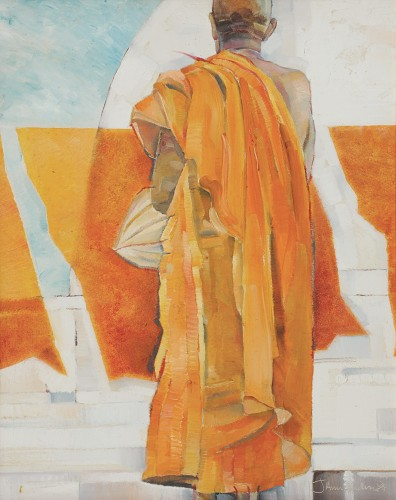 Anurendra Jegadeva - Untitled 1998 [50cm x 40cm] mixed media on board
