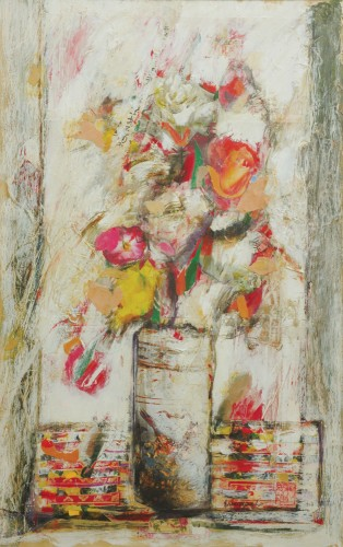 Eric Quah - New Day 1993 [73cm x 53cm] mixed media and collage on paper