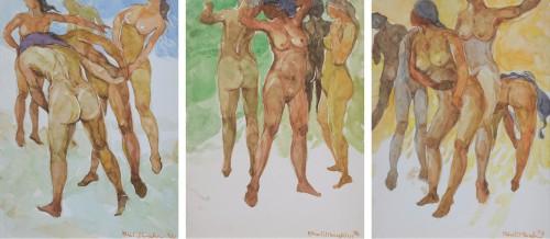 Khalil Ibrahim - Modesty Series 1970 [21cm x 15cm] watercolour on paper