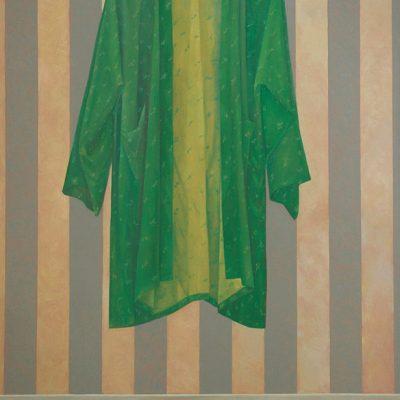 Noor Mahnun - Silk Robe 2002 [200cm x 125cm] oil on canvas