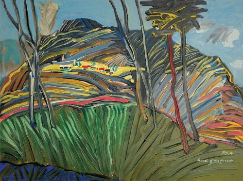 Raphael Scott Ahbeng - Heart of the Forest Undated [44cm x 59cm] oil on board