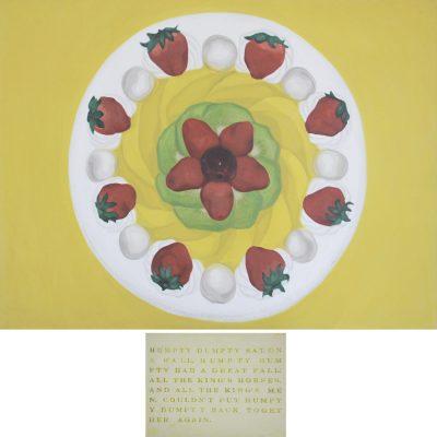 Shia Yih Yiing -Humpty Dumpty 2003 [91cm x 122cm, 30cm x 40cm] oil on canvas