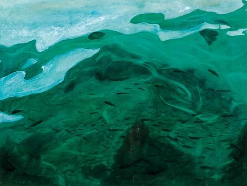 HOE SAY YONG, Floats 浮, 1993, Watercolour on paper, 70cm x 53cm