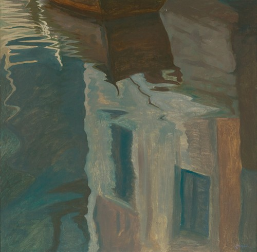HOE SAY YONG, House By The River 河岸人家, 1999, Acrylic on canvas, 152cm x 152cm