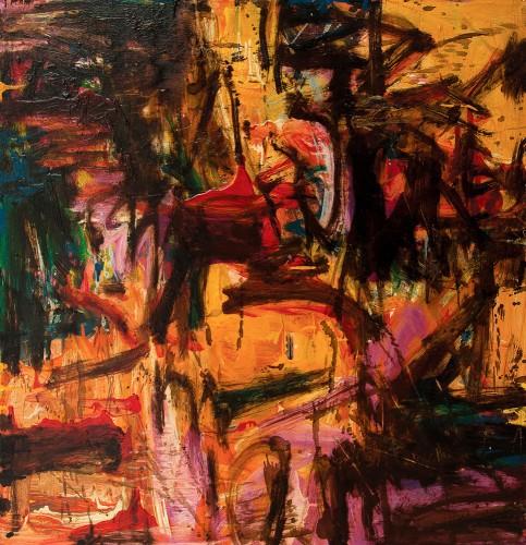 SUZLEE IBRAHIM - Morning Glory II, Langkawi Series, 2013, Acrylic and oil on canvas, 91.5cm x 91.5cm