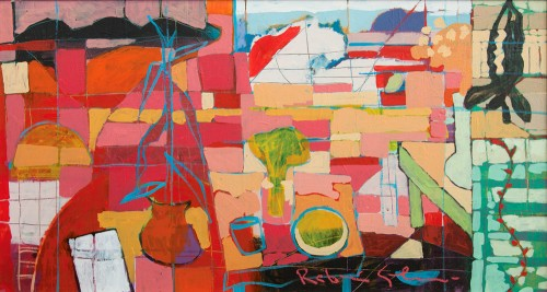 RAFIEE GHANI - Petai's and a Pinkroom, 2002, Oil on canvas, 66cm x 107cm