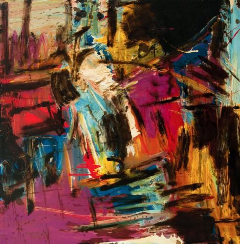 SUZLEE IBRAHIM - Morning Glory I, Langkawi Series, 2013, Acrylic and oil on canvas, 91.5cm x 91.5cm