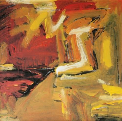 SUZLEE IBRAHIM - Moonlight, 2000, Oil on canvas, 61cm x 61cm