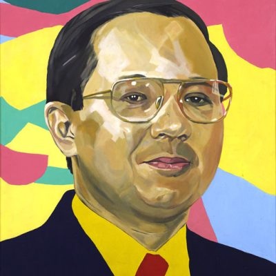 Ahmad 'Jeri' Azhari, <em>Portrait Of Tan Sri Azman Hashim</em>, Acrylic on canvas, 120.5cm x 90cm