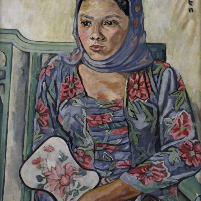 Georgette Chen, <em>Malay Woman</em>, 1950-1953, Oil on canvas, 62.5cm x 52.5cm