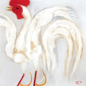 <em>Rooster,</em> 1994, Oil on canvas ,100cm x 95cm