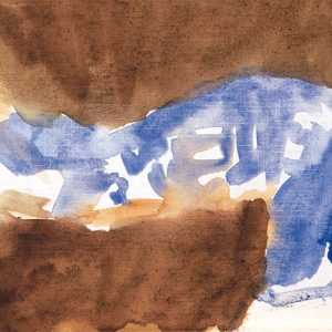 <em>Wanita Tidur,</em> 1990, Watercolour on paper,12.5cm x 21.5cm