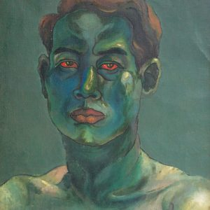 Lee Cheng Yong, <em>Self-portrait</em>, 1939, Oil on canvas laid on board, 45.5cm x 34.5cm. Sold