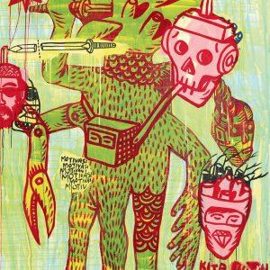 Eko Nugroho, <em>The Magician</em>, 2007, Acrylic on canvas, 200cm x 150cm. RM 45,000