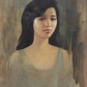 Basoeki Abdullah, <em>Gadis</em>, undated, Oil on canvas, 60cm x 46cm. RM 25,000