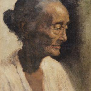 Dullah, <em>Nenek</em>, undated, Oil on canvas, 38cm x 50cm. Sold