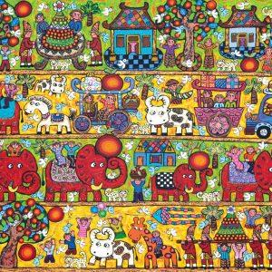 Erica Hestu Wahyuni, <em>Prosperity Vacation</em>, 2013, Acrylic on canvas, 150cm x 200cm. Sold
