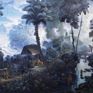 I Gusti Agung Wiranata, <em>Bali Life</em>, 1995, Gouache on paper, 54cm x 92.5cm. RM 14,000