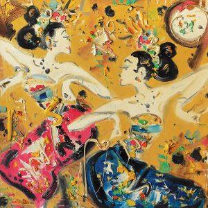 Nyoman Gunarsa, <em>Two Balinese Dancers</em>, undated, Oil on canvas, 70cm x 70cm. Sold