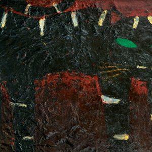 Popo Iskandar, <em>Cat</em>, 1973, Oil on canvas, 44cm x 72cm. RM 28,000