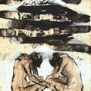 Putu Sutawijaya, <em>Semedi</em>, 2005, Oil on canvas, 110cm x 80cm. RM 35,000