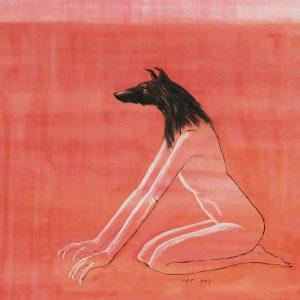 Ugo Untoro, <em>Anubis</em>, 2003, Watercolour on paper, 33cm x 28cm. RM 9,500