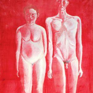 Ugo Untoro, <em>Ibu Dan Anak</em>, 2001, Oil on canvas, 100cm x 80cm. RM 27,000