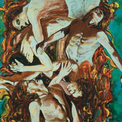 AHMAD FUAD OSMAN, <em>THE DROWNING 2 (LOST SERIES)</em>, 1995, Oil on canvas, 150cm x 181cm, estimate RM 35,000 – 50,000