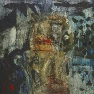 AWANG DAMIT AHMAD, <em>ESSENCE OF CULTURE SERIES</em>, 1993, Mixed media on canvas, 107cm x 91.5cm, estimate RM15,000 – 25,000