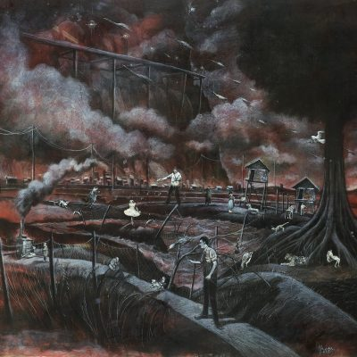 ILHAM FADHLI SHAIMY A.K.A KOJEK, <em>THE LATE GREATS (NOT TOO LATE, NOT THAT GREAT)</em>, 2010, Mixed media on paper, 143cm x 158cm, estimate RM13,000 – 16,000