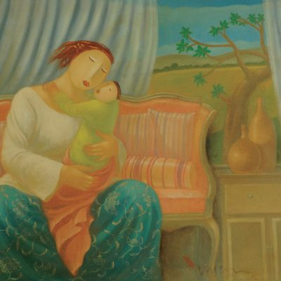 Eng Tay - Mother and Child 2013 [76cm x 101.5cm] oil on canvas
