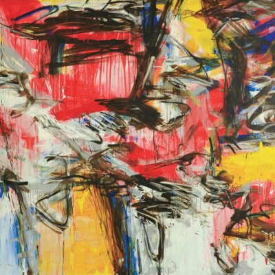 Suzlee Ibrahim -Nyanyian Senja 2011 [122cm x 184cm] mixed media on canvas